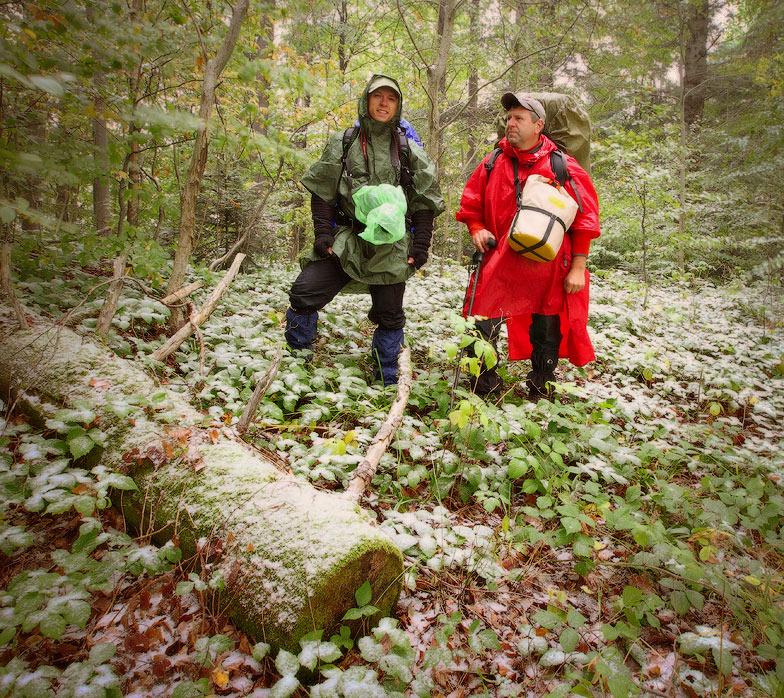 Турист слева Игорь Бурбела, справа Михаил Псарёв